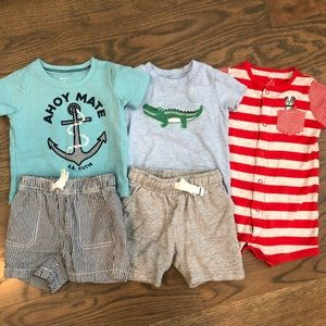 SET of 3 Carter's 9 month outfits in EUC
